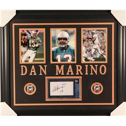 Dan Marino Signed Dolphins 23x27 Custom Framed Cut Display (Beckett Encapsulated)