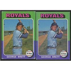 Lot of (2) 1975 Topps #228 George Brett RC