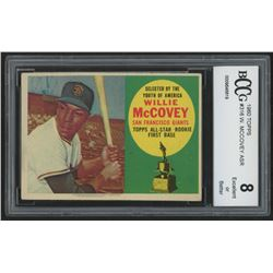 1960 Topps #316 Willie McCovey ASR RC (BCCG 8)