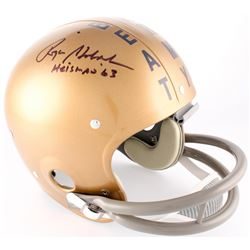 "Roger Staubach Signed Navy Midshipmen Throwback Suspension Full-Size Helmet Inscribed ""Heisman '63"""