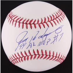 "Ivan Rodriguez Signed OML Baseball Inscribed ""99 AL MVP"" (MLB Hologram)"
