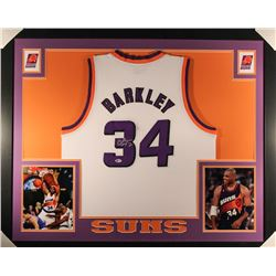 Charles Barkley Signed Suns 35x43 Custom Framed Jersey (Beckett COA)