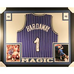 Penny Hardaway Signed Magic 35x43 Custom Framed Jersey (JSA COA)