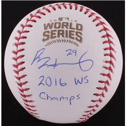 "Rob Zastryzny Signed Official 2016 World Series Baseball Inscribed ""2016 WS Champs"" (Schwartz COA)"
