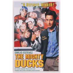 "Emilio Estevez Signed ""The Mighty Ducks"" 11x17 Photo (Shwartz COA)"