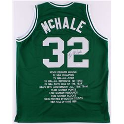 Kevin McHale Signed Celtics Career Highlight Stat Jersey (JSA COA)