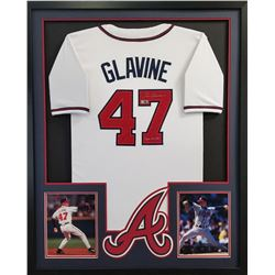 "Tom Glavine Signed Braves 34x42 Custom Framed Jersey Inscribed ""300 Wins"" (Radtke COA)"