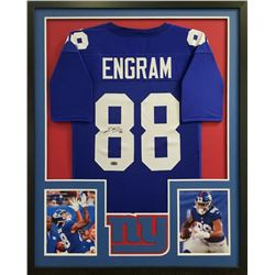 Evan Engram Signed Giants 34x42 Custom Framed Jersey (Radtke COA)
