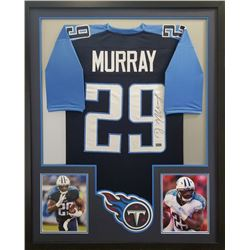 DeMarco Murray Signed Titans 34x42 Custom Framed Jersey (Radtke COA)