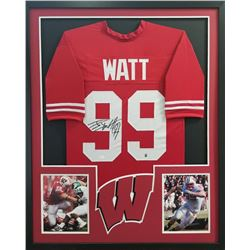 J.J. Watt Signed Steelers 34x42 Custom Framed Jersey (JSA COA  Watt Hologram)