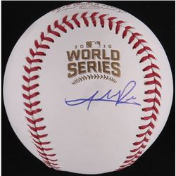 Addison Russell Signed Official 2016 World Series Baseball (Schwartz COA)