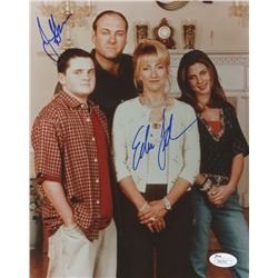 "James Gandolfini  Edie Falco Signed ""The Sopranos"" 8x10 Photo (JSA COA)"
