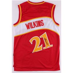Dominique Wilkins Signed Hawks Throwback Jersey (PSA COA)