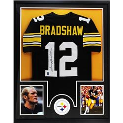 "Terry Bradshaw Signed Steelers 34"" x 42"" Custom Framed Jersey (Bradshaw Hologram)"