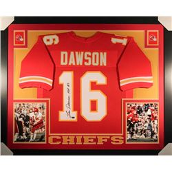 "Len Dawson Signed Chiefs 35x43 Custom Framed Jersey Inscribed ""HOF 87"" (GTSM Hologram)"