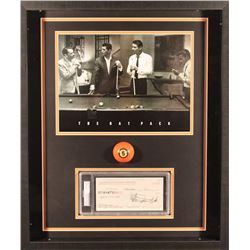 Sammy Davis Jr. Signed 21x25x2 Custom Framed Shadowbox Check Display (PSA Encapsulated)