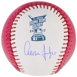 Aaron Judge Signed 2017 Home Run Derby Moneyball Baseball (Fanatics)