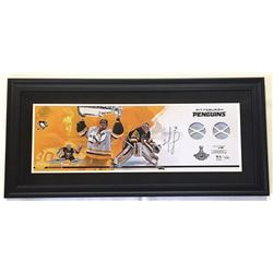 "Matt Murray Signed Penguins 17"" x 37"" Custom Framed Game-Used Finals Net Display (Fanatics)"