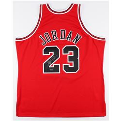 Michael Jordan Signed Mitchell  Ness Authentic Bulls Jersey (UDA COA)