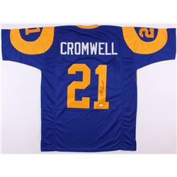 Nolan Cromwell Signed Rams Throwback Jersey (JSA COA)