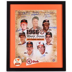 1966 Balitmore Orioles Team-Signed 22x26 Custom Framed World Series Champions Photo Display Signed b
