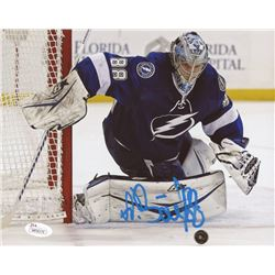 Andrei Vasilevskiy Signed Lightening 8x10 Photo (JSA COA)