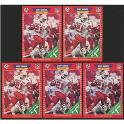 Lot of (5) 1989 Pro Set #494 Barry Sanders RC