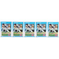 Lot of (5) 1987 Fleer Update #68 Greg Maddux RC