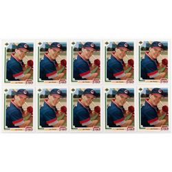 Lot of (10) 1991 Upper Deck Final Edition #17F Jim Thome RC