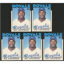 Lot of (5) 1986 Topps Traded #50T Bo Jackson RC