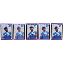Lot of (5) Ken Griffey Jr. 1989 Donruss #33 RR RC