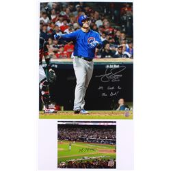 "Lot of (2) Signed Cubs Photos with (1) Mike Montgomery 8x10  (1)  Matt Szczur 16x20 Inscribed ""Its G"