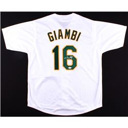 Jason Giambi Signed Athletics Jersey (JSA COA)