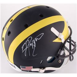 Jabrill Peppers Signed Michigan Wolverines Custom Matte Blue Full-Size Helmet (JSA COA)