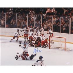 Mike Eruzione Signed Team USA 16x20 Photo (JSA COA)