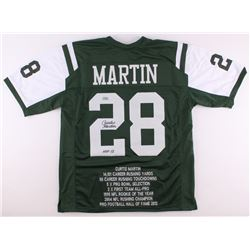 "Curtis Martin Signed Jets Career Highlight Stat Jersey Inscribed ""HOF 2012"" (Radtke COA)"