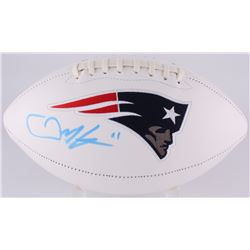 Julian Edelman Signed Patriots Logo Football (JSA COA)