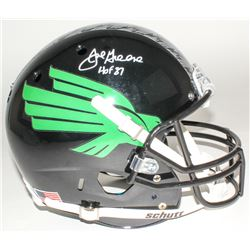 "Joe Greene Signed North Texas Mean Green Full-Size Helmet Inscribed ""HOF 87"" (Radtke COA)"