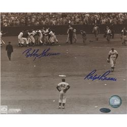 "Bobby Thomson  Ralph Branca Signed ""Shot Heard 'Round The World"" 8x10 Photo (Steiner Hologram)"
