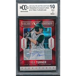 2014 Elite Extra Edition Prospects Signatures #13 Trea Turner #068/449 (BCCG 10)