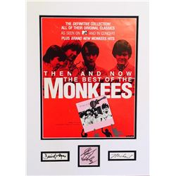 """""""The Monkees"""" Signed 16.5x22 Custom Framed Photo Display Signed by (4) With Davy Jones, Peter Tork,"""