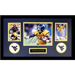 Tavon Austin Signed West Virginia Mountaineers 16x26 Custom Framed Photo Display (Radtke COA)