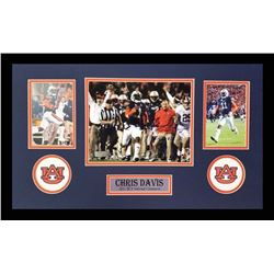 "Chris Davis Signed Auburn Tigers 16x26 Custom Framed Photo Display Inscribed ""Kick Six"" (Radtke COA)"