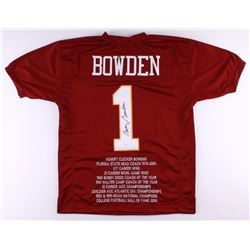 Bobby Bowden Signed Florida State Seminoles Career Highlight Stat Jersey (JSA Hologram)