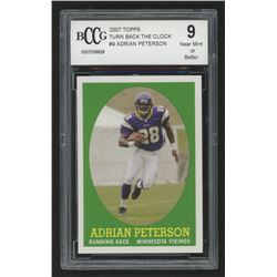 2007 Topps Turn Back The Clock #9 Adrian Peterson (BCCG 9)