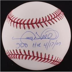 """Gary Sheffield Signed OML Baseball Inscribed """"500 HR 4/17/09"""" (Autograph Reference COA)"""