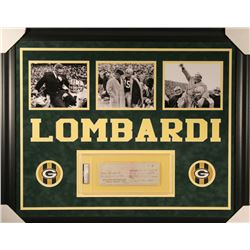 Vince Lombardi Signed Packers 27x33 Custom Framed Vintage 1959 Bank Check Display (PSA Encapsulated)