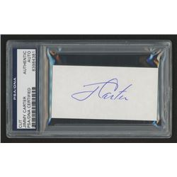 Jimmy Carter Signed 1.75x3.5 Cut (PSA Encpsulated)