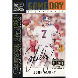 2000 Playoff Momentum Game Day Signatures #GDS4 John Elway #23/75