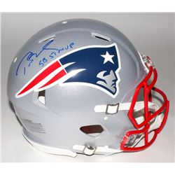 "Tom Brady Signed Patriots Full-Size Authentic On-Field Speed Helmet Inscribed ""SB 51 MVP"" (Steiner C"